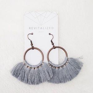 Circle Tassel Fringe Earrings